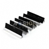 Single Escalator Skirt Brush Skirt Deflector Devices